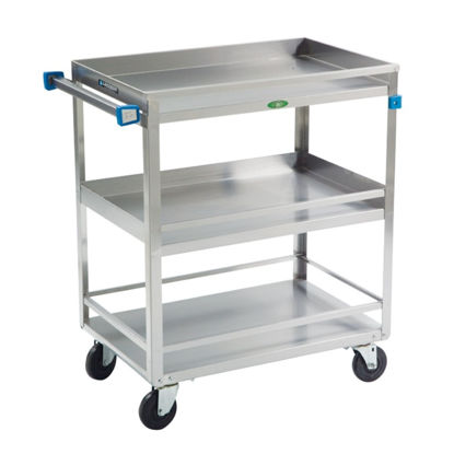 Picture of EA - CL-101 - Stainless Steel Lab Cart w/ 3 Shelves w/ Guards (CL101)