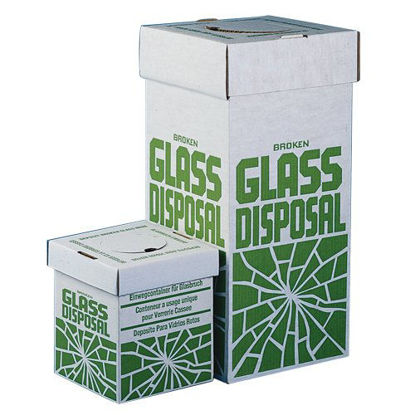 "Picture of PK(6/pk) - DB-301 - Broken Glass Disposal Boxes, 12"" x 12"" x 27"" (DB301)"