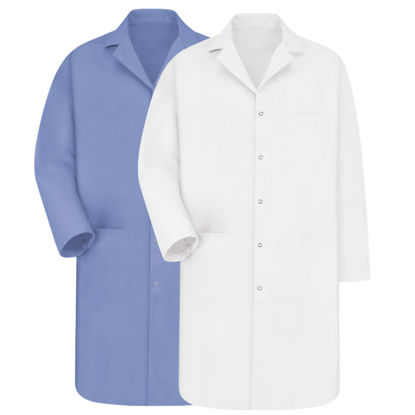 Picture of EA - LCB-L - Lab Coat, Light Blue, Size L (LCBL)