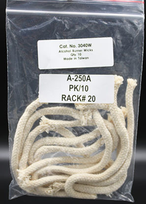 Picture of PK(10/pk) - A-250A - Replacement Wicks for Alcohol Burner (A250A)