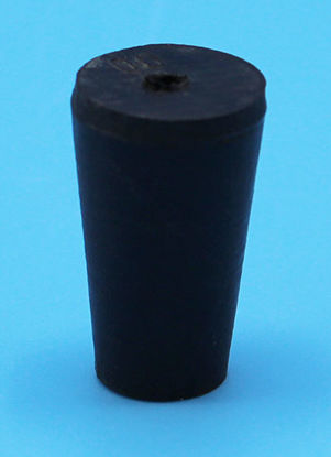 Picture of R-00A - Size 00 1-Hole Rubber Stopper (R00A)