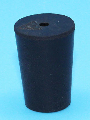 Picture of R-0A - Size 0 1-Hole Rubber Stopper (R0A)