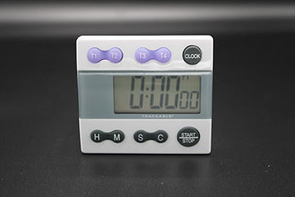 Picture of EA - TC-556 - Traceable® Large-Display Big-Digit 4-Channel Timer w/ Stopwatch and Clock, NIST (TC556)