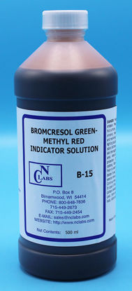 Picture of B-15 - Bromcresol Green-Methyl Red Indicator Solution, APHA for Alkalinity (B15)