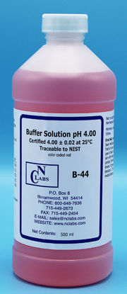 Picture of B-44 - pH Buffer Solution, pH 4.00, Red-Coded (B44)