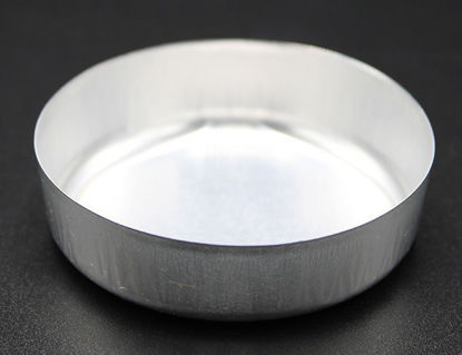 Picture of WD-57S - 57 mm Diameter Smooth-Sided Aluminum Weighing Dish w/o Tabs (WD57S)