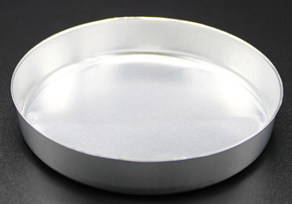Picture of WD-103S - 103 mm Diameter Smooth-Sided Aluminum Weighing Dish w/o Tabs (WD103S)