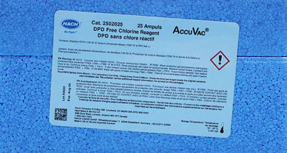 Picture of PK(25/pk) - H-25020-25 - DPD, Chlorine, Free, in AccuVac® Ampules (H2502025)
