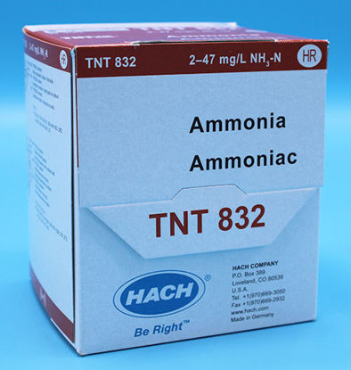 Picture of PK(25/pk) - H-TNT832 - Ammonia TNTplus Vial Test, HR, 2-47 mg/l (HTNT832)
