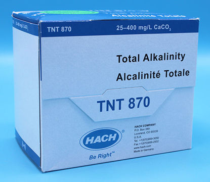 Picture of PK(25/pk) - H-TNT870 - Alkalinity, Total, TNTplus Vial Test, 25-400 mg/l CaCO₃ (HTNT870)