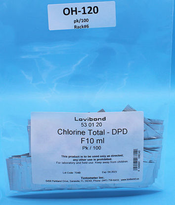 Picture of PK(100/pk) - OH-120 - Chlorine, Total, DPD Reagent Packets, 10 ml Sample (OH120)