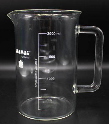 Picture of EA - BK-500P - 2000 ml Beaker w/ Handle and Spout (BK500P)