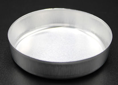 Picture of WD-73S - 73 mm Diameter Smooth-Sided Aluminum Weighing Dish w/o Tabs (WD73S)