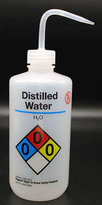 """Picture of BN-711DI - 500 ml Right-to-Know Wash Bottle, Labeled """"Distilled Water"""" (BN711DI)"""