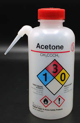 """Picture of BN-711AC - 500 ml Right-to-Know Wash Bottle, Labeled """"Acetone"""" (BN711AC)"""