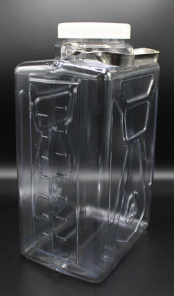 Picture of EA - CN-1325 - 9 Liter Clear Rectangular Polycarbonate Carboy (CN1325)