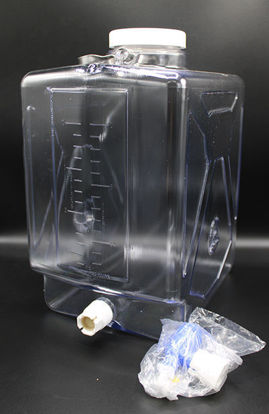 Picture of EA - CN-2350 - 20 Liter Clear Rectangular Carboy w/ Spigot (CN2350)