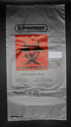 """Picture of BX(100/bx) - BB-324 - Red Biohazard Disposal Bags, 12"""" x 24"""" (BB324)"""