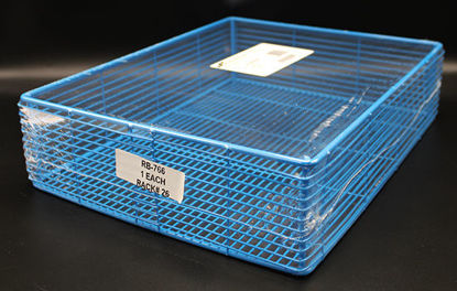 """Picture of EA - RB-766 - Epoxy-Coated Steel Wire Basket, 14"""" x 11"""" x 3.5"""" (RB766)"""