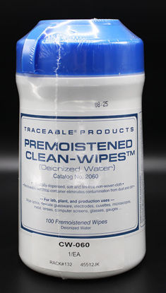 Picture of EA - CW-060 - Pre-Moistened Lab Wipes, 100% Reagent-Grade Deionized Water (CW060)