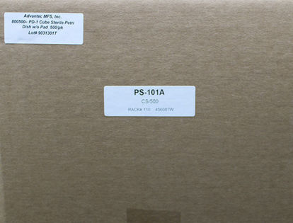 Picture of CS(500/cs) - PS-101A - 50 mm Petri Dishes, Sterile, No Pads (PS101A)