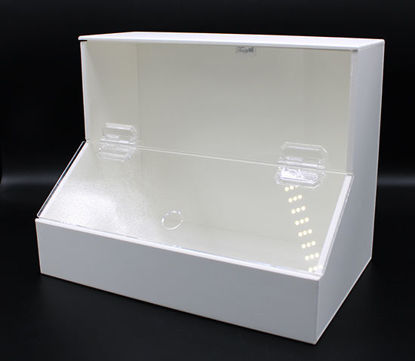 "Picture of EA - BF-220 - Top-Load Dispensing Bin w/ 2 Compartments, 9.25"" x 7.5"" x 11.75"" (BF220)"