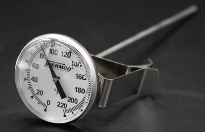 """Picture of EA - TD-22F - Dial Thermometer w/ 1¾"""" Dial and 8"""" Stem, 0 to 220°F (TD22F)"""