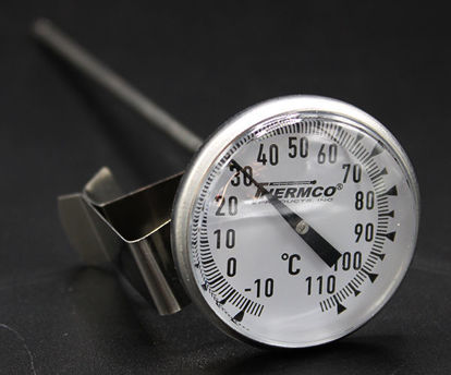 """Picture of EA - TD-11C - Dial Thermometer w/ 1¾"""" Dial and 8"""" Stem, -10 to 110°C (TD11C)"""