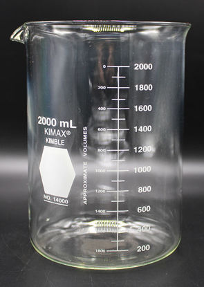 Picture of BK-409 - 2000 ml Glass Beaker, Kimax (BK409)
