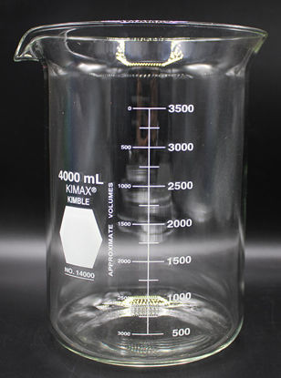 Picture of BK-410 - 4000 ml Glass Beaker, Kimax (BK410)