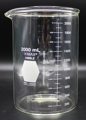 Picture of BK-425 - 2000 ml Heavy-Duty Glass Beaker, Kimax (BK425)