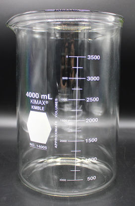 Picture of BK-426 - 4000 ml Heavy-Duty Glass Beaker, Kimax (BK426)