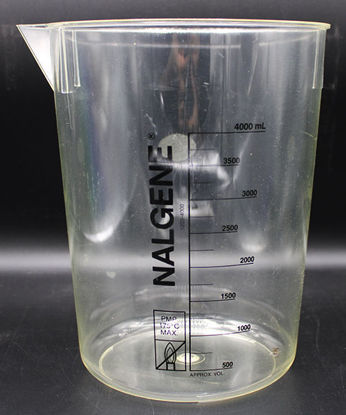 Picture of BN-518 - 4000 ml Clear Plastic PMP Beaker (BN518)