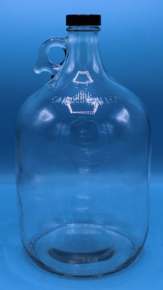 Picture of B-614F - Gallon Clear Narrow-Mouth Glass Bottle w/ Polyseal Cap (B614F)