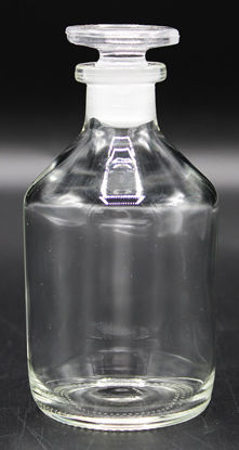 Picture of BW-12N - 100 cc Clear Narrow-Mouth Reagent Bottle w/ Ground-Glass Stopper (BW12N)