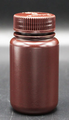 Picture of BN-710 - 125 ml Amber Wide-Mouth Round HDPE Bottle (BN710)