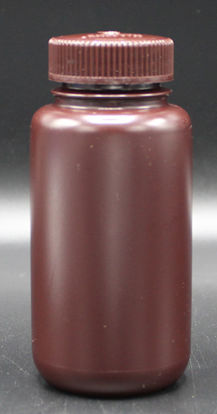 Picture of BN-711 - 250 ml Amber Wide-Mouth Round HDPE Bottle (BN711)