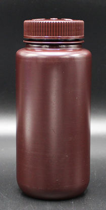 Picture of BN-712 - 500 ml Amber Wide-Mouth Round HDPE Bottle (BN712)