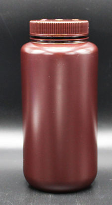 Picture of BN-713 - 1000 ml Amber Wide-Mouth Round HDPE Bottle (BN713)