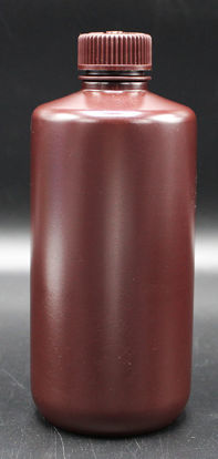 Picture of BN-432 - 500 ml Amber Narrow-Mouth Round HDPE Bottle (BN432)