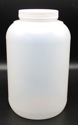 Picture of B-656 - 4000 ml Plastic Wide-Mouth Bottle w/ Plastic Cap (B656)