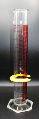 Picture of CK-576R - 1000 ml Red-Line Glass Graduated Cylinder, Kimax (CK576R)