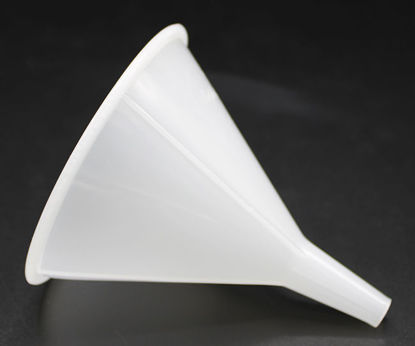 Picture of EA - FN-540 - Plastic Funnel w/ Tapered Stem, 110 mm Top Diameter, 10 mm Stem OD, 40 mm Long Stem (FN540)