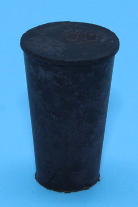 Picture of R-00 - Size 00 No-Holes Rubber Stopper (R00)