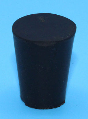 Picture of R-1 - Size 1 No-Holes Rubber Stopper (R1)