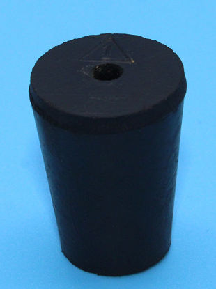 Picture of R-1A - Size 1 1-Hole Rubber Stopper (R1A)