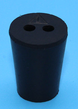 Picture of R-1B - Size 1 2-Hole Rubber Stopper (R1B)