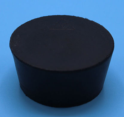 Picture of R-10 - Size 10 No-Holes Rubber Stopper (R10)