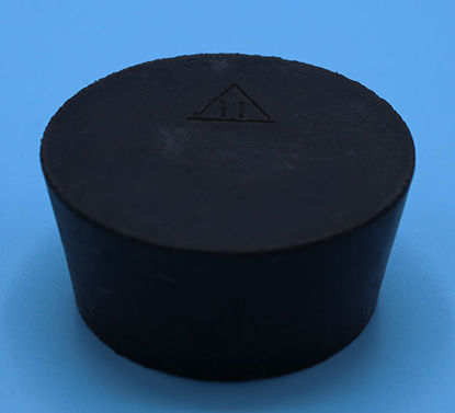 Picture of R-11 - Size 11 No-Holes Rubber Stopper (R11)