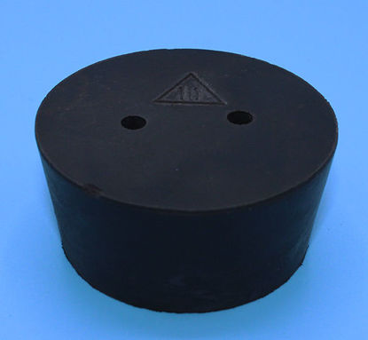 Picture of R-11B - Size 11 2-Hole Rubber Stopper (R11B)